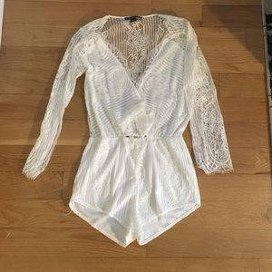Maddy K white lace jumpsuit